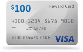 $100 Visa Reward Card
